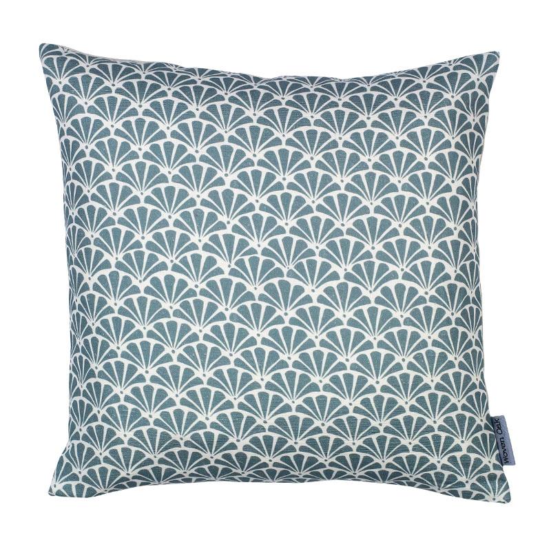 Green linen cushion