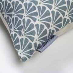 Green linen cushion corner