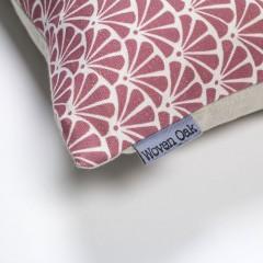 red linen cusion corner