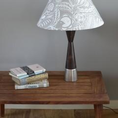 Small lampshade grey bloom