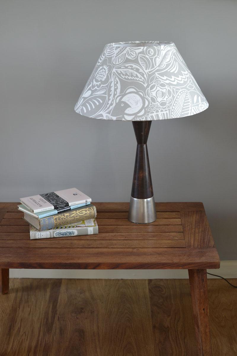Grey Lamp Shade Bloom Woven Oak