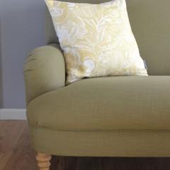 Yellow Linen Cushion Cover