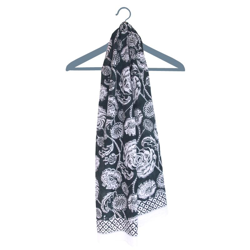 hand block printed scarf