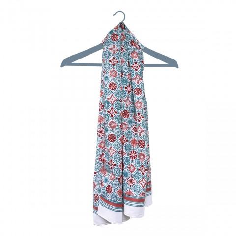 hand block printed modern scarf